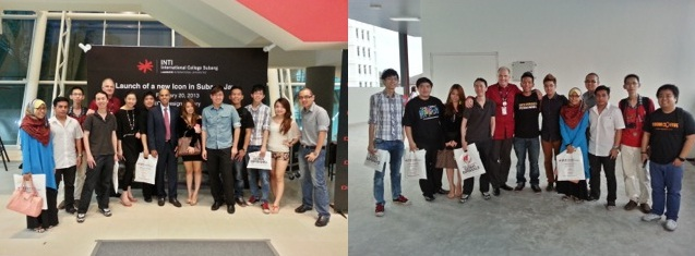 The bunch of us bloggers and friends on our campus tour of INTI International College Subang