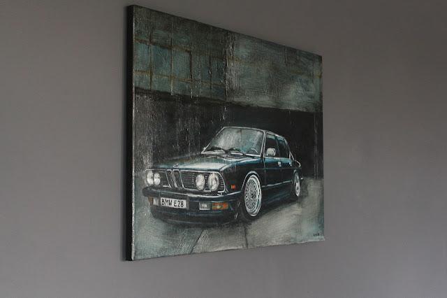 BMW E28 na ścianie