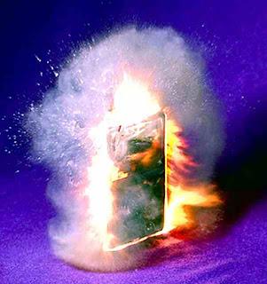 Phone exploding