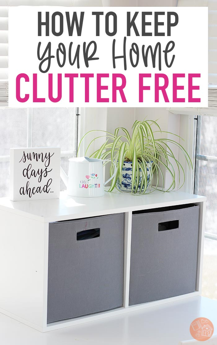 You've decluttered your home... now what? Keep your home clutter free with these tips! Stop clutter from piling up with these strategies, even when you have kids. Keep your house clean and decluttered the easy way. #declutter #tidyingup #konmari #mariekondo