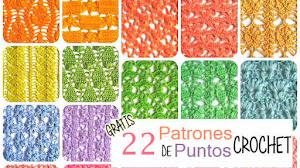 22 Patrones de Puntos Crochet Calados / Gratis