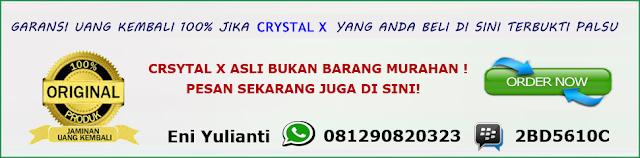 crystal x luntur aman tidak