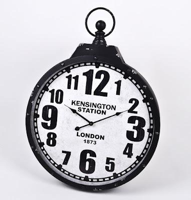Wanduhr Kensington Station Bahnhofsuhr London