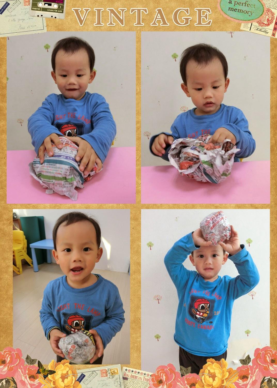 汐止WeCare 維格爾托嬰中心 暨 維格爾幼兒園--0~6歲嬰幼兒: 成長二班~紙的遊戲-紙球大賽