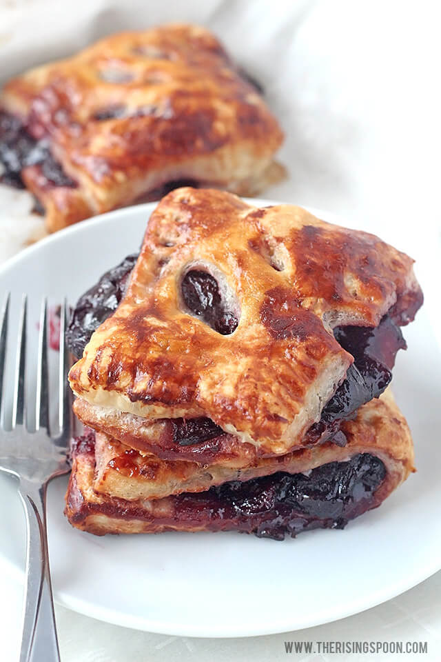 Cherry Turnovers with Homemade Cherry Pie Filling