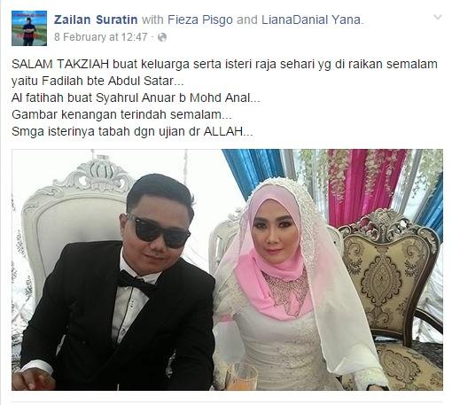 Sadis, Baru Bergelar Suami Isteri, Si Suami Pergi Buat Selamanya
