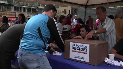 Por dentro do plebiscito opositor a Maduro nos Estados Unidos