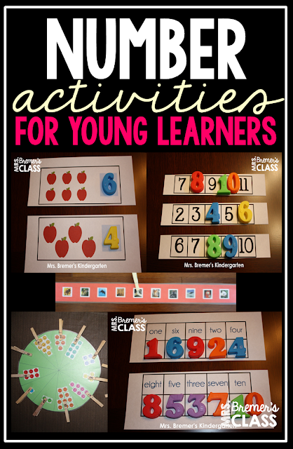 umber Activities for early elementary kids: hands-on math activities, perfect for Math Centers!