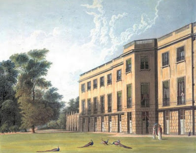 The South Front, Carlton House, from The History of the Royal Residences by WH Pyne (1819)