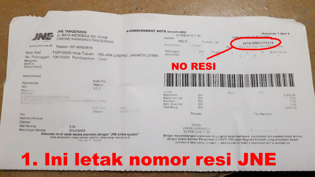 Cara Mengetahui Nomor Resi Jne Tiki Wahana Pos Indonesia