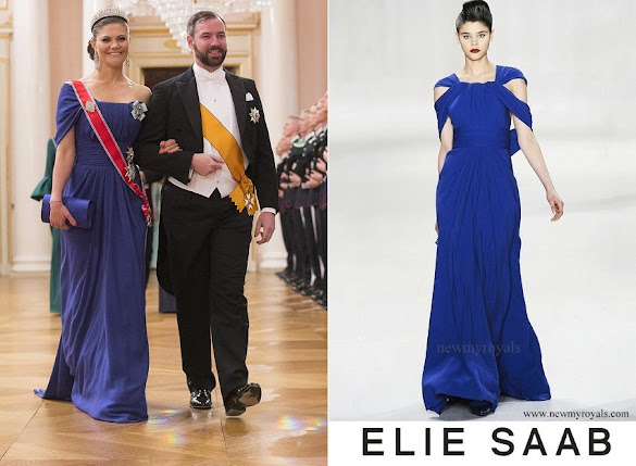 Crown Princess Victoria wore ELIE SAAB Gown