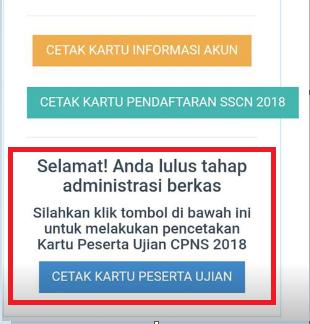 gambar cara Cetak Kartu Peserta Ujian CPNS 2018