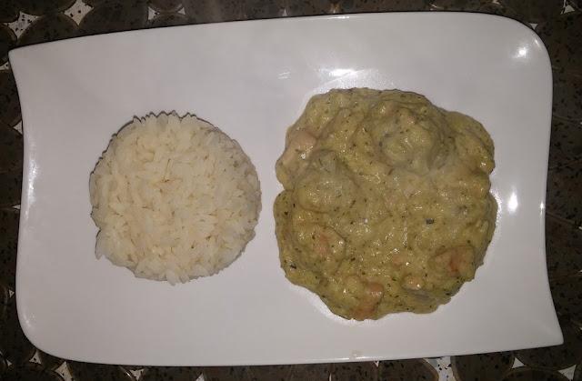 Poulet à la crème de fleurette et riz