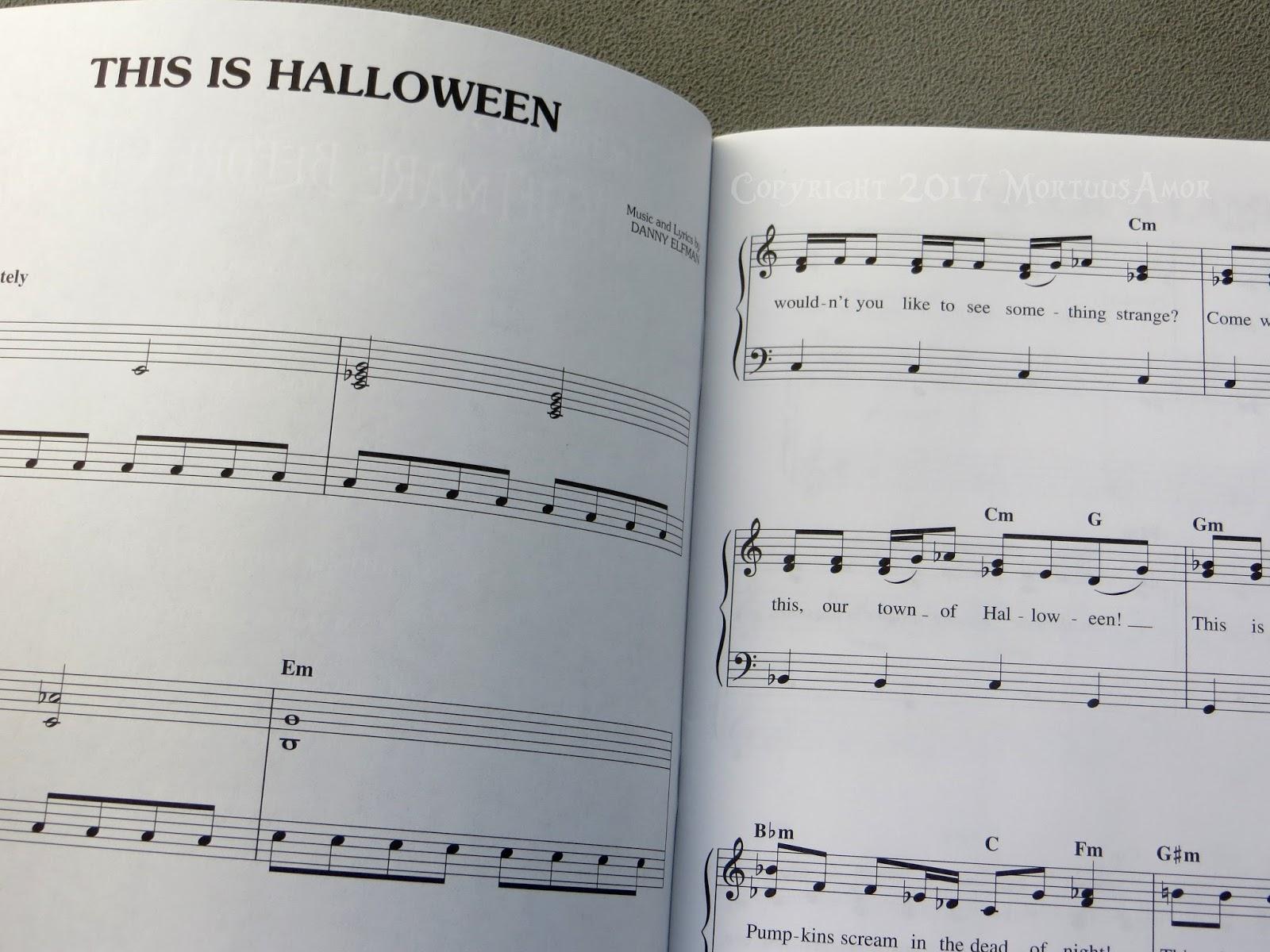 My Tim Burton Collection: TNBC Piano/Vocals