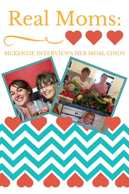 Mom2MomEd Blog: Real Moms--McKenzie interviews her mama, Cindy