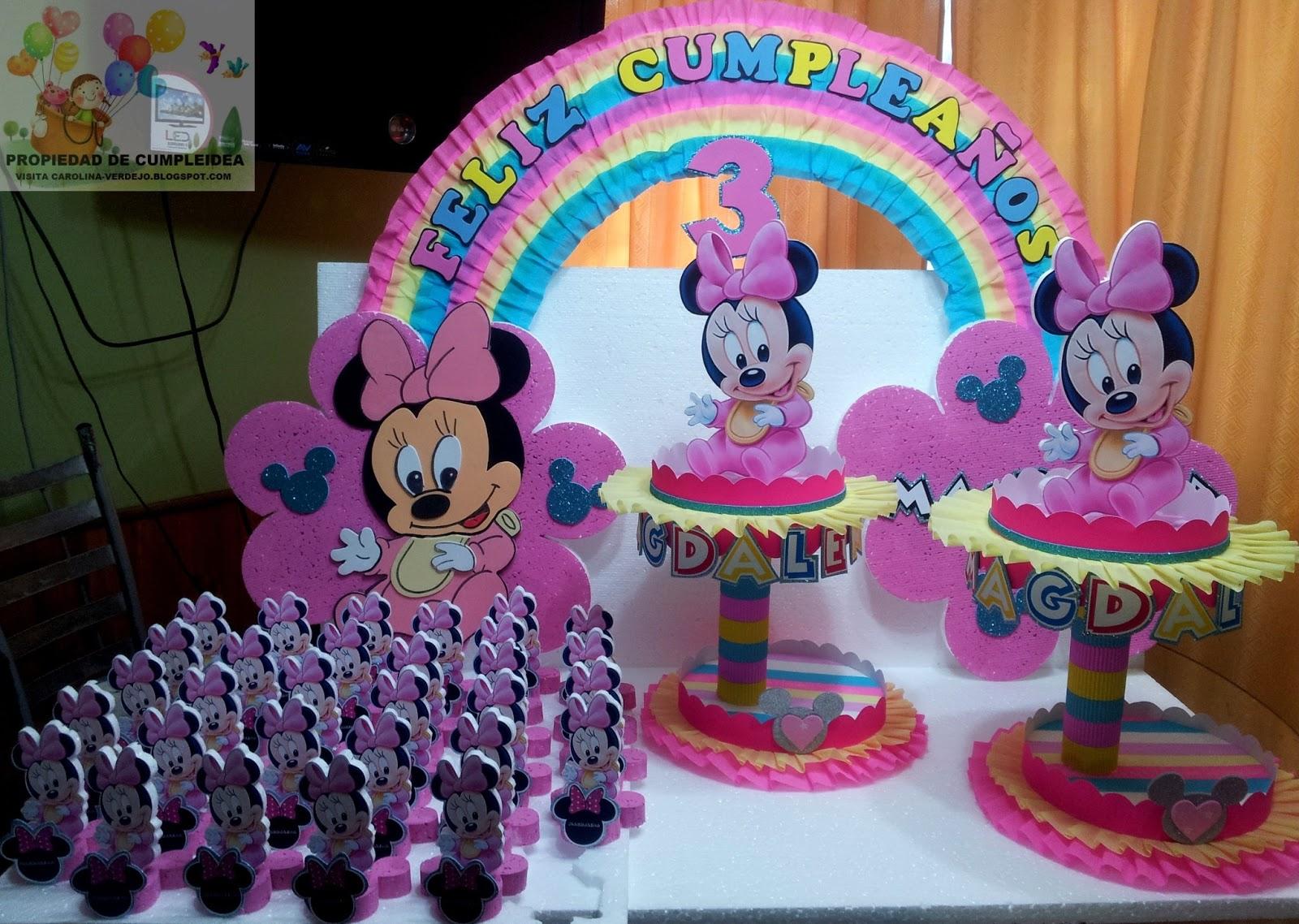 Decoraciones infantiles minnie bebe pack - Detalles de decoracion ...