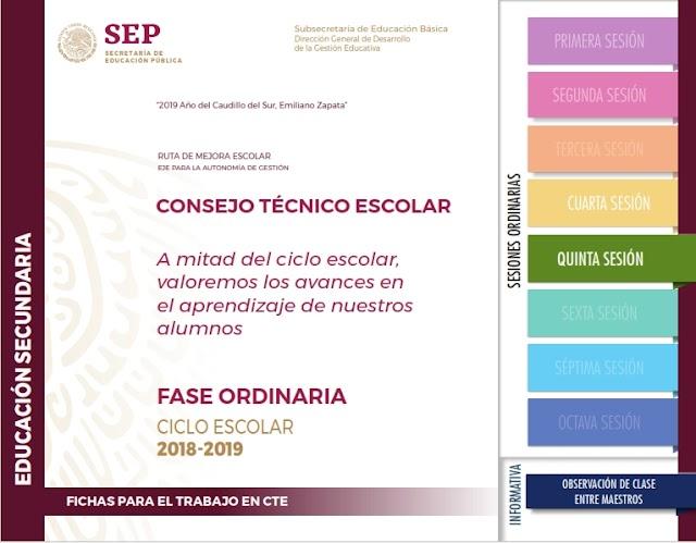 CTE Quinta Sesión Secundaria - Evaluación de los Aprendizajes