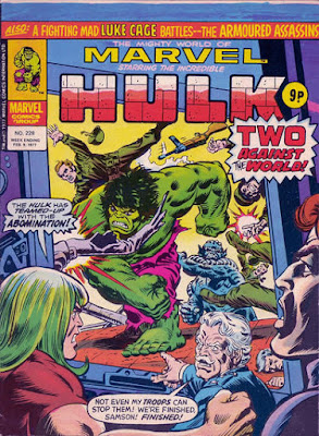 Mighty World of Marvel #228, Hulk and the Abomination