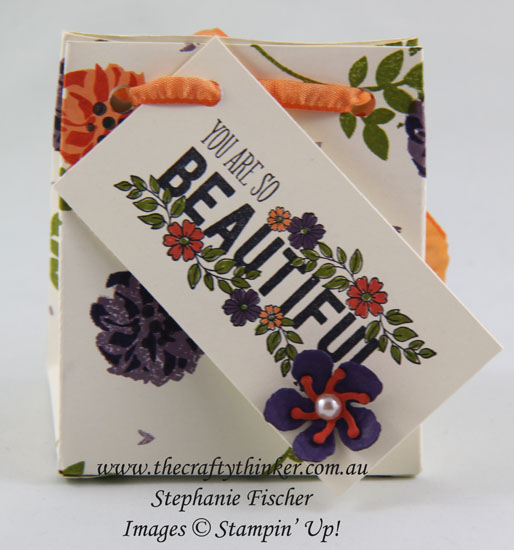 Lovely Friends, Just Add Text, Sneak Peek Annual Catalogue, Gift Bag Punch Board, #thecraftythinker, Stampin Up Australia Demonstrator, Stephanie Fischer, Sydney NSW