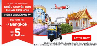 Air Asia siêu khuyến mãi đi thái Lan, bay Air Asia