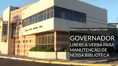 Governador Rui Costa, libere ai a verba para manutenção da Biblioteca do Rio Vermelho!