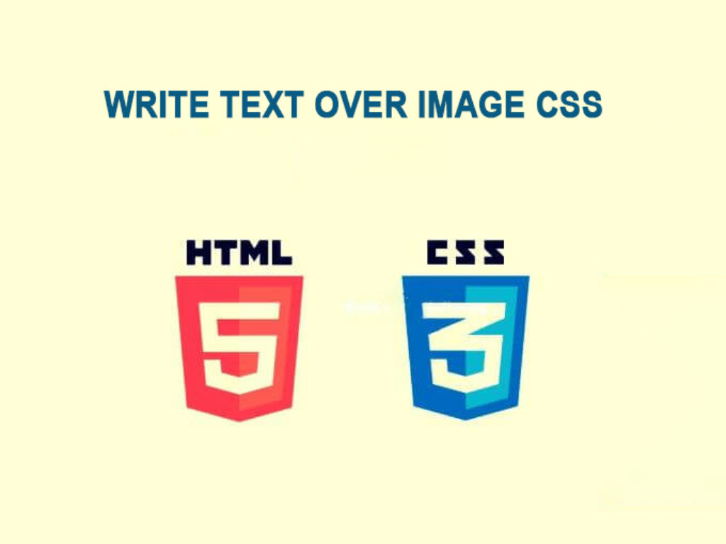 How to write title or text over image css