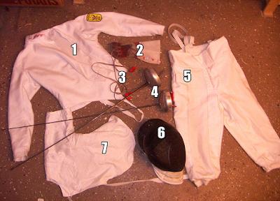beberapa Pakaian dan Peralatan Anggar