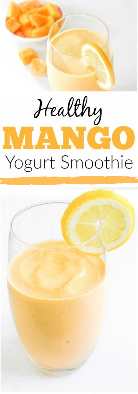 HEALTHY MANGO YOGURT SMOOTHIE #drink #smoothie