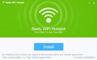 Menginstall Baidu Hotspot Wifi
