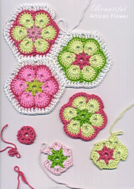 African crochet flowers
