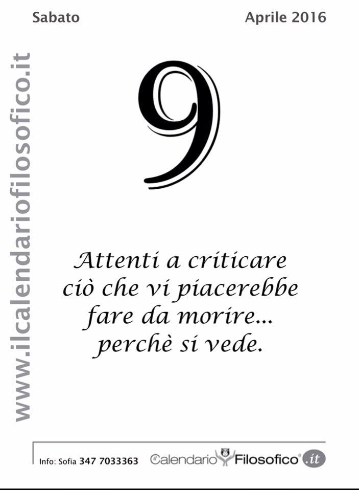 abbastanza Frase del giorno (Dal Calendario Filosofico) - LIPARINET UB88