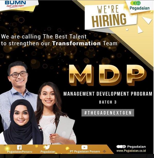 Lowongan Kerja PT Pegadaian (Persero) Besar Besaran [Deadline 20 April 2019]