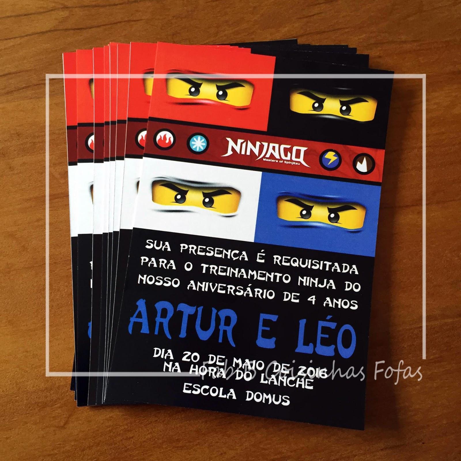 Fabib Convite Ninjago