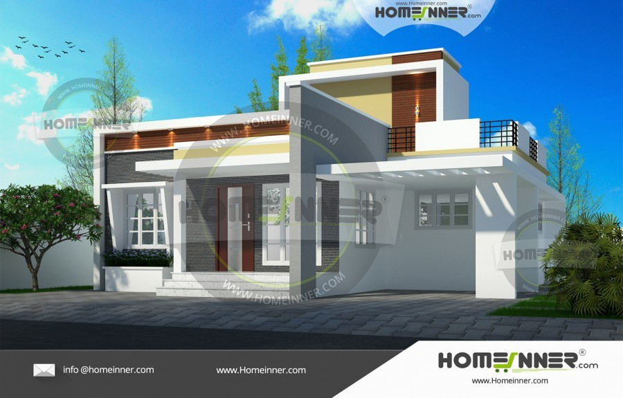 Kerala Home Design Single Floor 19 Lakh 2 Bedroom 5 Cent