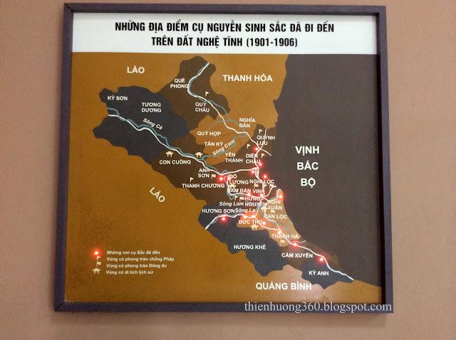 Những địa điểm cụ Nguyễn Sinh Sắc đã đi đến trên đất Nghệ Tĩnh (1901-1906)