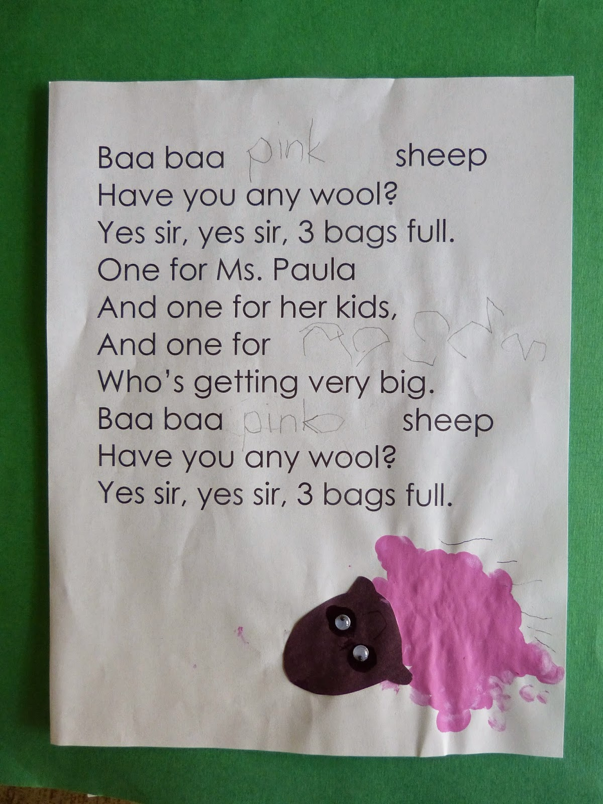 Paula S Primary Classroom Baa Baa Colorful Sheep The