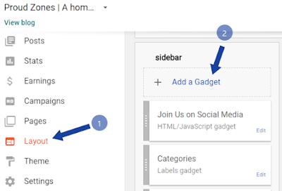 Adding navigation menu to Blogspot
