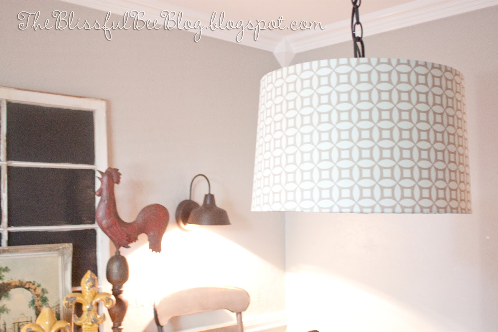 Diy Hanging Drum Light Fixture The Blissful Bee