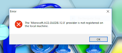 Mengatasi Error Microsoft ACE OLEDB 12.0 Provider is Not Registered - Kucing Tekno Com