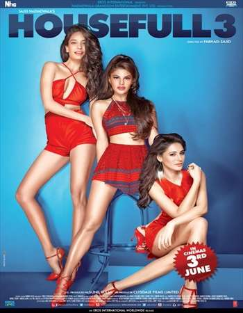Poster Of Housefull 3 2016 Hindi 720p DVDRip ESubs Watch Online Free Download Worldfree4u