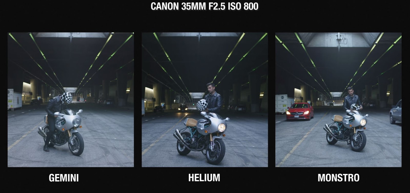 RED Gemini vs Monstro vs Helium side by side Test