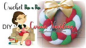 Cómo tejer corona navideña a crochet / tutorial