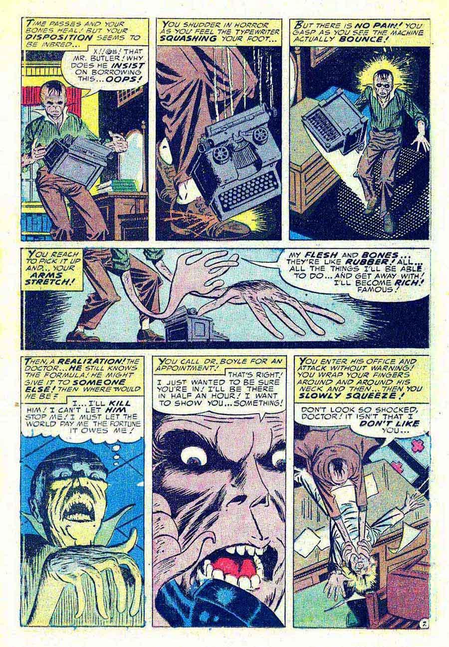 Fantastic Fears v1 #5 - Steve Ditko golden age horror comic book page art