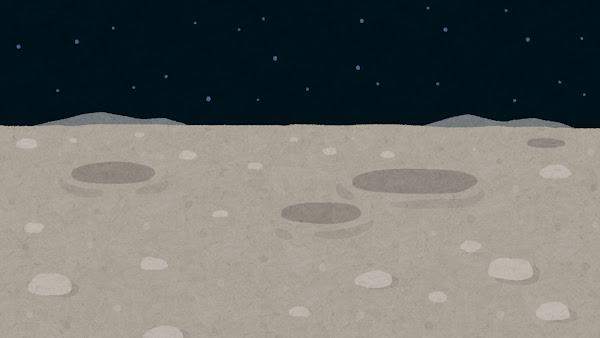 月面のイラスト(背景素材)