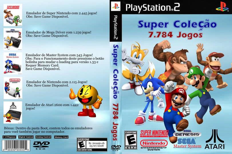 Super Collection 7784 Games - Snes, Sega Genesis, Master System, Nintendo, Atari Emulators PS2