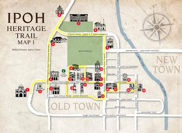 Ipoh Heritage Walk Karte