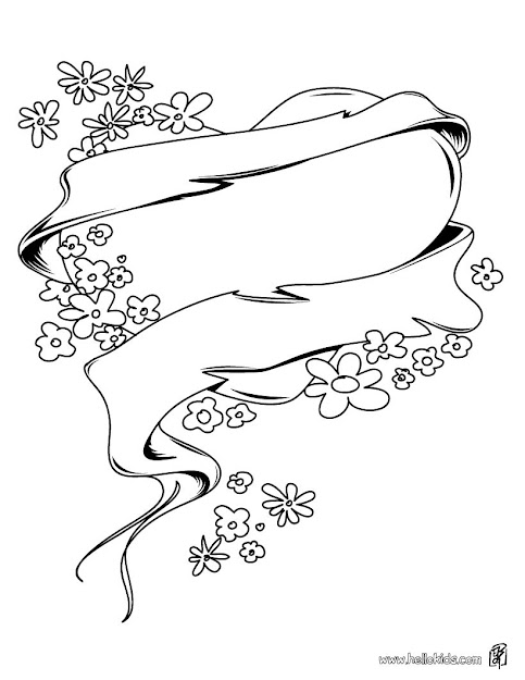 Hearts With Flowers Coloring Pages