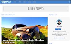 VioMagz, Template blogger keren terbaru Mas Sugeng
