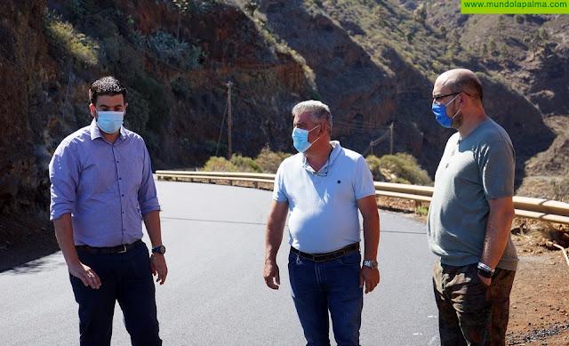 El Cabildo mejora la carretera entre Las Tricias y Santo Domingo de Garafía
