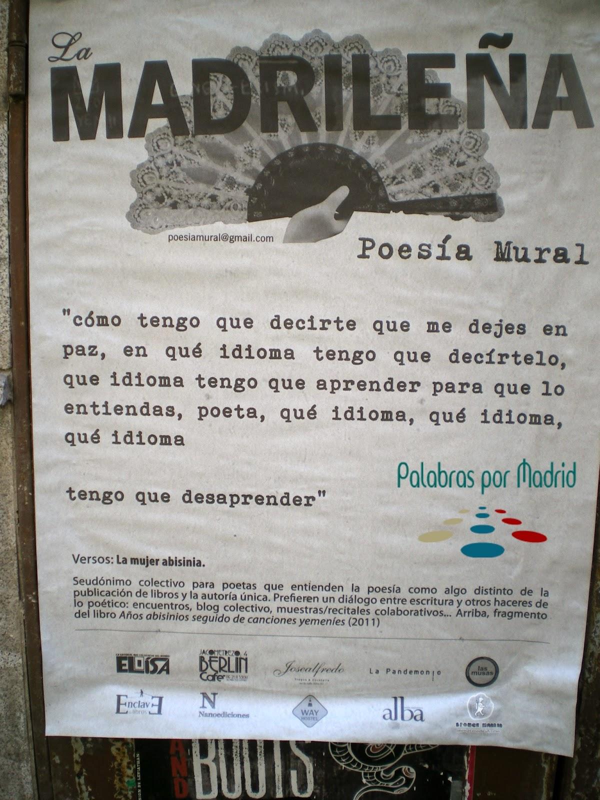 la madrilena poesia mural